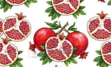 Pink Pomegranates